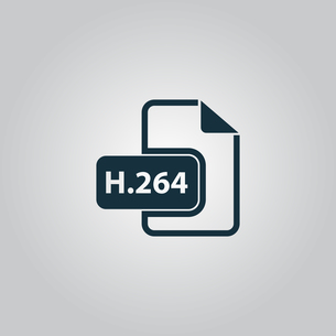 H264 video file extension icon vector.の写真素材 [FYI00753550]