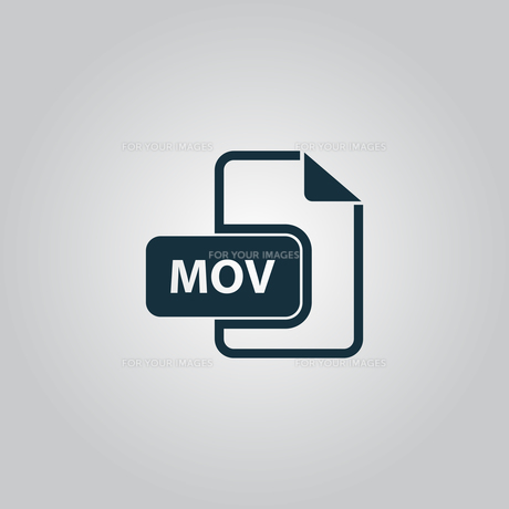 MOV video file extension icon vector.の写真素材 [FYI00753556]