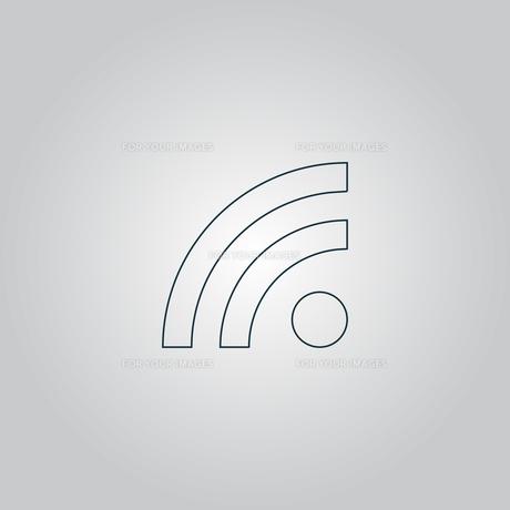 RSS sign icon. feed symbol.の素材 [FYI00753579]
