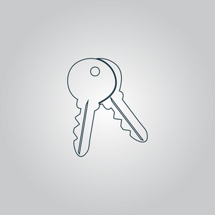 Keys sign icon. Unlock tool buttonの写真素材 [FYI00753580]