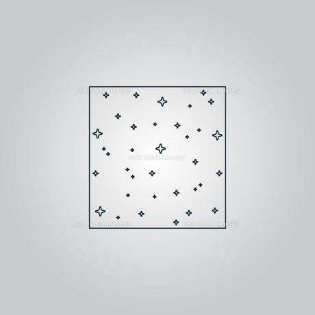 Vector pattern made with stars in squareの素材 [FYI00753582]