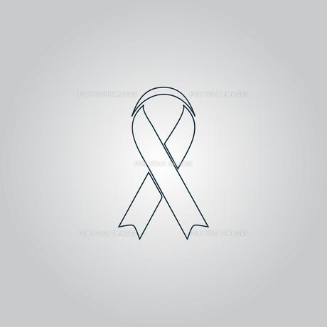 Flat ribbon aids symbol iconの素材 [FYI00753583]