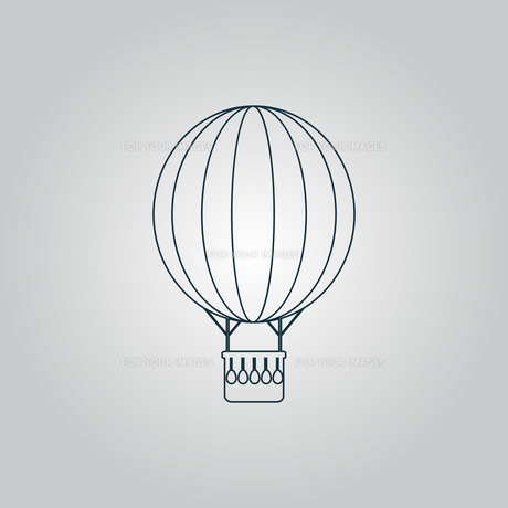 Balloon journey, web icon, sign and buttonの写真素材 [FYI00753586]
