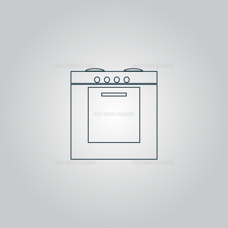 Stove icon, sign and buttonの写真素材 [FYI00753595]