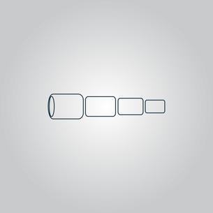Spyglass iconの写真素材 [FYI00753617]