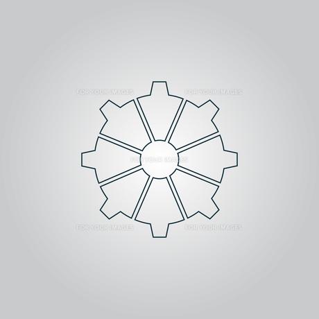 gear icon, vector illustration. Flat design styleの写真素材 [FYI00753640]