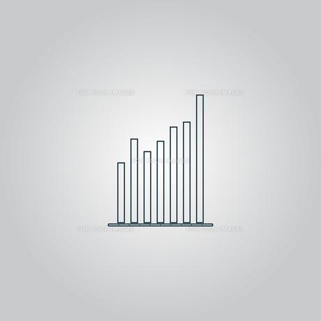 Graph chart sign icon. Diagram symbol. Statistics.の素材 [FYI00753642]