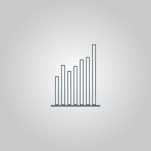 Graph chart sign icon. Diagram symbol. Statistics.の写真素材 [FYI00753642]