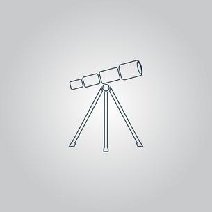 Telescope iconの写真素材 [FYI00753646]