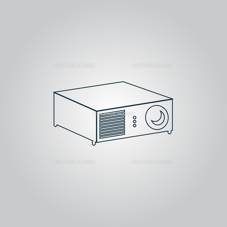 Projector sign iconの写真素材 [FYI00753655]