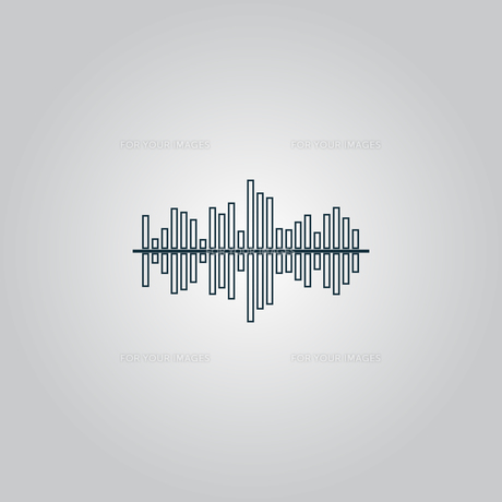 Sound wave icon - vector equalizer music element or symbolの素材 [FYI00753656]