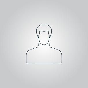 Male avatar profile picture - vectorの写真素材 [FYI00753658]