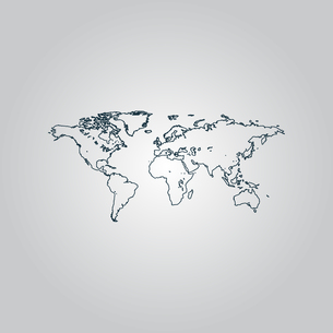 Map of the worldの写真素材 [FYI00753662]