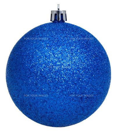xmas dark blue ball isolated on whiteの写真素材 [FYI00753680]
