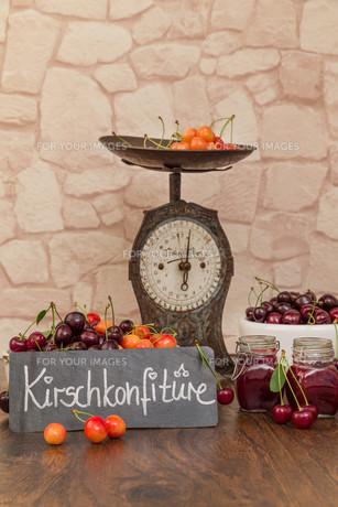 boil cherry jamの写真素材 [FYI00753845]