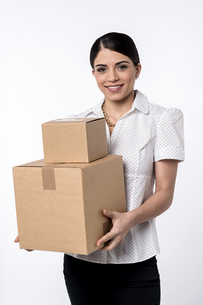 I got my parcels.の写真素材 [FYI00753928]