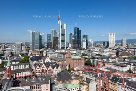 Skyline of Frankfurt Main, Germanyの写真素材 [FYI00753941]