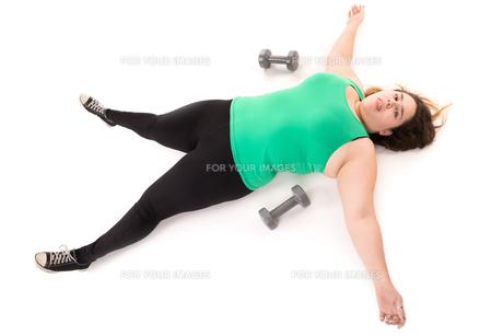Tired large girlの写真素材 [FYI00754076]