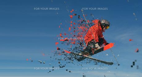 jumping skier designの素材 [FYI00754544]