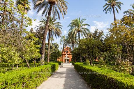 Seville Alcazar Gardenの写真素材 [FYI00754586]