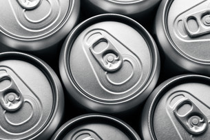 Pattern from much of drinking cans of beerの写真素材 [FYI00754794]