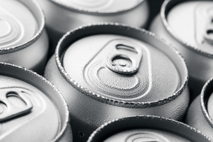 Pattern from much of drinking cans of beerの写真素材 [FYI00754796]