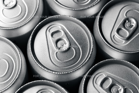 Group of an aluminum can of sodaの写真素材 [FYI00754799]