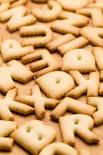 Alphabet Biscuitの写真素材 [FYI00754843]
