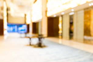 Abstract hotel lobby blur backgroundの写真素材 [FYI00754845]