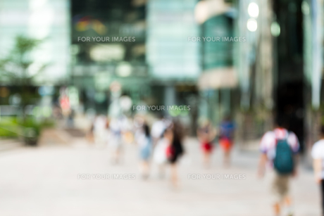Blur view of business districtの写真素材 [FYI00754854]