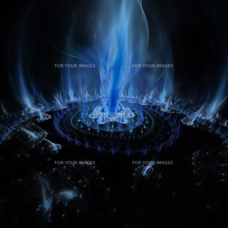 magic fire circleの写真素材 [FYI00755177]