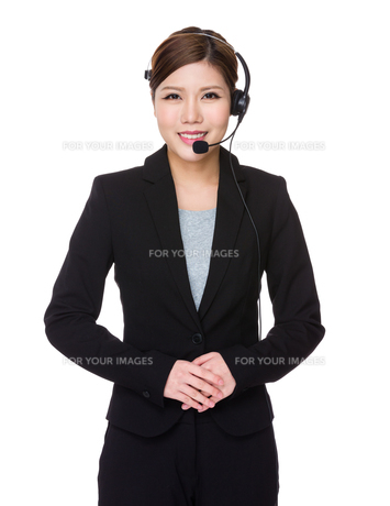 Customer services assistantの写真素材 [FYI00755228]