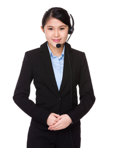 Customer services representativeの写真素材 [FYI00755716]
