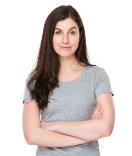 Caucasian woman portraitの写真素材 [FYI00756666]