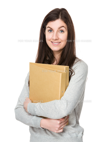Woman hold with document workの写真素材 [FYI00756777]