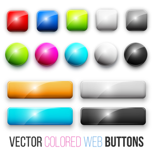 web buttonsの写真素材 [FYI00756916]