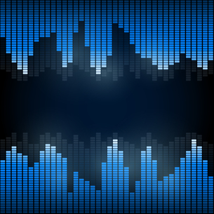 Equalizer on abstract technology backgroundの写真素材 [FYI00756936]