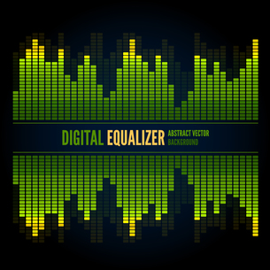 Equalizer on abstract technology backgroundの写真素材 [FYI00756938]