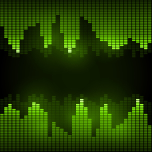 Equalizer on abstract technology backgroundの写真素材 [FYI00756943]