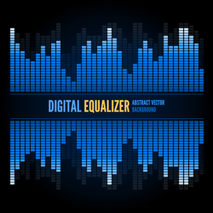 Equalizer on abstract technology backgroundの写真素材 [FYI00756944]