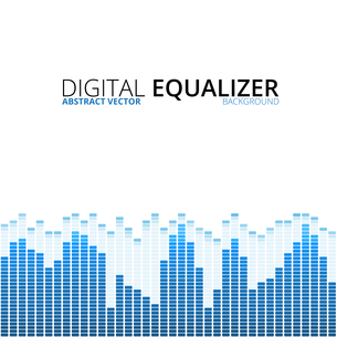 Equalizer on abstract technology backgroundの写真素材 [FYI00756945]