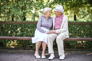 Affectionate seniorsの写真素材 [FYI00757085]
