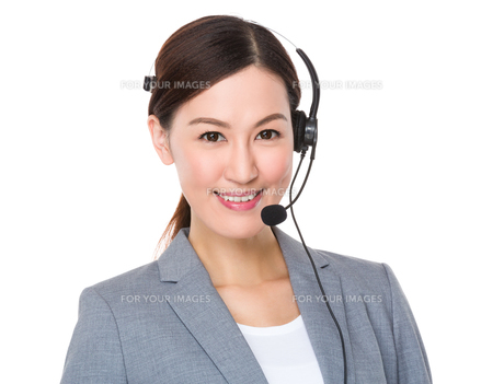 Customer services representativeの写真素材 [FYI00757291]