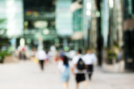 Blur view of business district backgroundの写真素材 [FYI00757512]