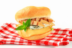 Chicken and cheese sandwichの写真素材 [FYI00757819]
