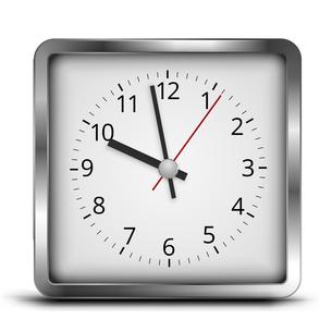 Square clockの写真素材 [FYI00757855]