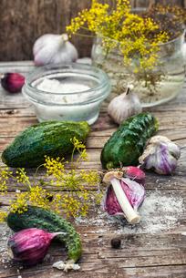 salted cucumberの写真素材 [FYI00758038]