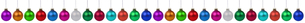many colorful christmas balls christmas decoration in a row cutの素材 [FYI00758061]