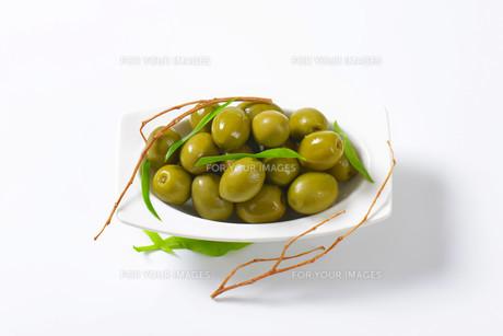 Fresh Green Olivesの素材 [FYI00758609]