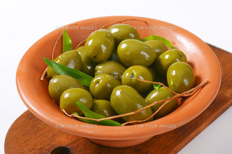 Fresh Green Olivesの素材 [FYI00758616]